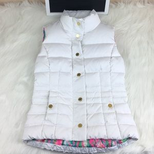 Lilly Pulitzer Down Puffer Vest White Size XXS